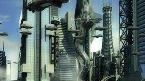 Alien planet colony stock footage