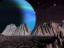 Alien Planet fantasy space scene Stock Photography