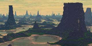 Alien Planet of the Galaxy. Worlds and planets of the galaxy Royalty Free Stock Photography
