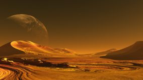 Alien   planet. The image of alien planet Stock Images