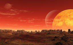 Alien Planet Royalty Free Stock Photography