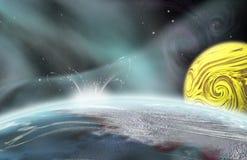 Alien Planet Impact Stock Images