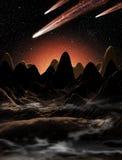 Alien Planet Landscape Royalty Free Stock Images