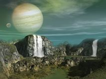 Alien planet landscape Stock Photos