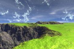 Alien Planet. Mountain. 3D rendering. Fantasy alien planet. Mountain. 3D illustration Royalty Free Stock Image