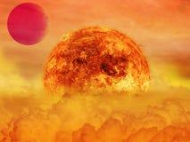 Alien Planet sci-fi scene. Artist's Rendition. Stock Images