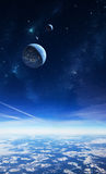 Alien planet sky Royalty Free Stock Photo