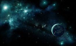 Alien planet in space