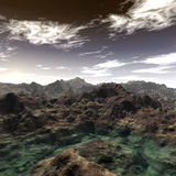 Alien Planet Surface And Sky Royalty Free Stock Photos