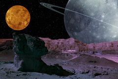 Alien Planet System. Royalty Free Stock Photography