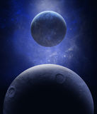 Alien planets and stars Royalty Free Stock Images