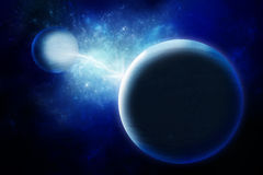 Alien planets in universe. Space Art: Alien planets in universe Royalty Free Stock Photo