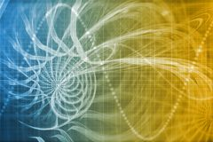 Alien Portal Abstract Background. With Futuristic Data Grid Stock Images