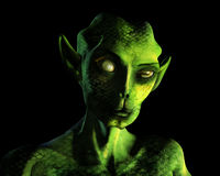 Alien Portrait - with clipping path Royalty Free Stock Photo