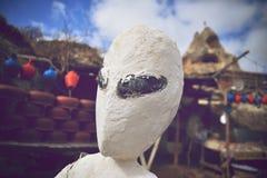 White alien portrait. Alien portrait close-up on earth Stock Images