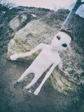 White alien portrait. Alien portrait close-up on earth Stock Image