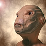 Alien portrait Stock Image