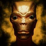 Alien portrait. Futuristic 3d Alien portrait and background Stock Photos