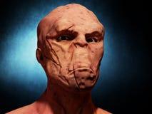 Alien portrait. Futuristic 3d Alien portrait and background Stock Photography