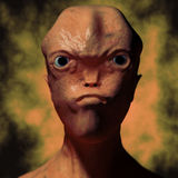 Alien portrait Stock Images