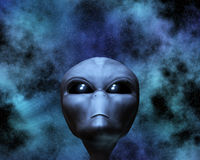 Alien portrait with stars Stock Photography