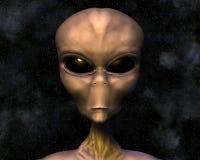 Alien portrait with stars stock illustration