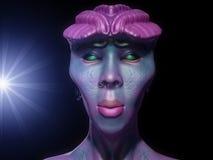 Alien portrait Stock Image