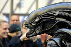 Alien in public royalty free stock images