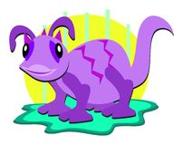 Alien Purple Lizard Stock Images