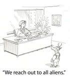 Alien reach Royalty Free Stock Photo