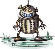 Alien robot. Cartoon Royalty Free Stock Photo