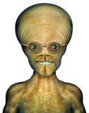 Alien Scholar. Digital Illustration of an alien Royalty Free Stock Images