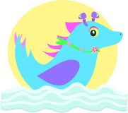 Alien Sea Horse Stock Images