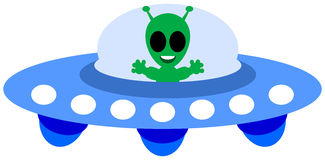 An alien ship Royalty Free Stock Images