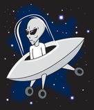 Alien in Ship Stock Photo