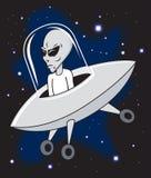 Alien in Ship Stock Photo
