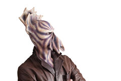 Alien side wide. Alien with tentacle and purple skin side wide portrait Royalty Free Stock Photo