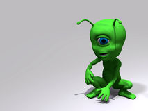 Alien - sitting Royalty Free Stock Images