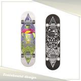 Alien Skateboard Design Stock Image