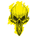Alien skul for tatoo stock photography