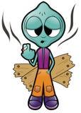 Alien Smoker Royalty Free Stock Image