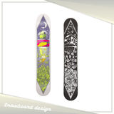 Alien Snowboard Design Stock Image