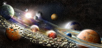 Alien solar system Royalty Free Stock Photography
