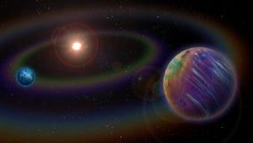Alien Solar System Royalty Free Stock Photos