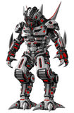 Alien soldier in futuristic armor Royalty Free Stock Image