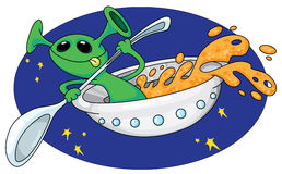 Alien in space Stock Photography