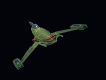Alien Space Fighter Stock Image
