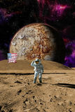 Alien space scene Royalty Free Stock Images