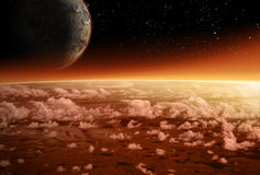 Alien space scene Royalty Free Stock Photography