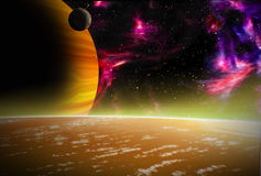 Alien space scene Stock Photo